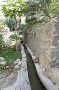 In jedem Oasendorf gibt es teilweise jahrhundertealte Bewässerungssysteme