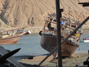 Dhau Reederei in Sur, Oman