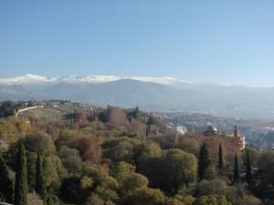 Sierra Nevada, von der Alhambra aus gesehen