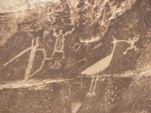 Petroglyphen im Petrified Forest