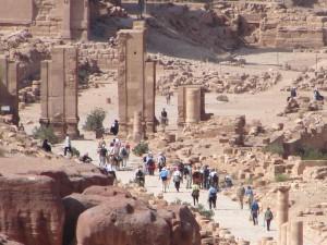 Tempelruinen in Petra