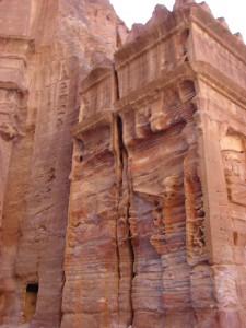 Gebäudeteil in Petra