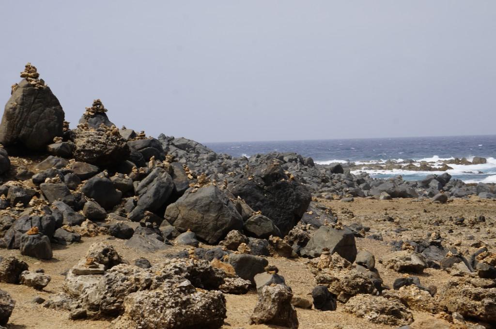 Steinhaufen auf Aruba