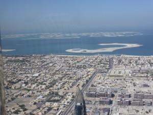 Blick vom Burj Khalifa auf Dubai The World