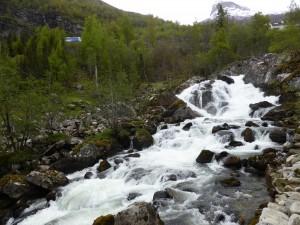 Wasserfall in Geiranger / waterfall parting Geiranger