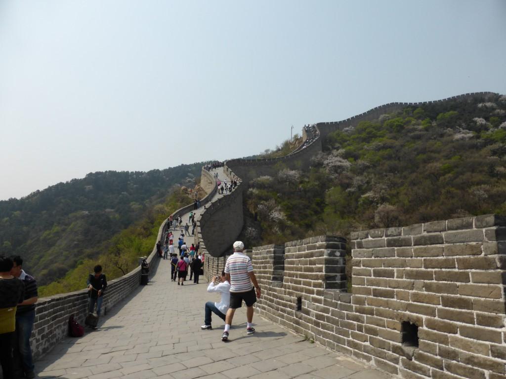 der Chinesischen Mauer entlang