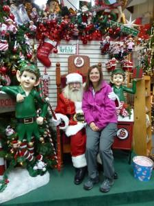 Santa and me!