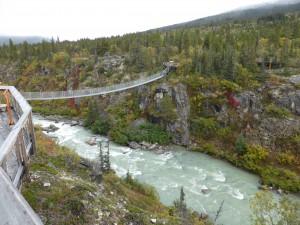 Yukon Suspension Bridge, Tutshi Canyon