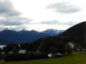 View from Helsingland Hotel in Haines