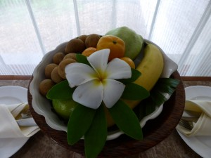 fruit bowl on our coffee table