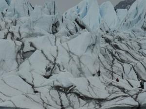 Wedding photos taken on the glacier