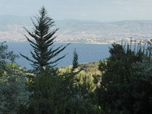 view from Aphrodite´s Bath