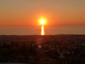 Sonnenuntergang über Paphos