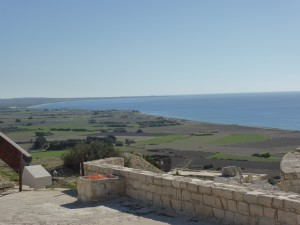 view from Kourion to the sea