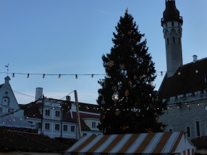 Christmas market in front of the Town Hall