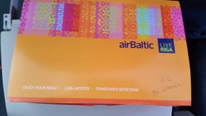 very personal snackbox on our Air Baltic flight