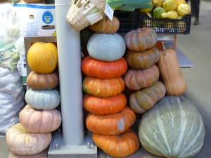 pumkins in the covered market in Riga