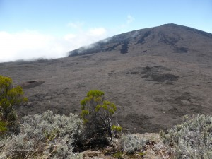 View from the lookout to the Piton de la Fournaise