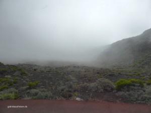 Wetterwechsel am Piton de la Fournaise