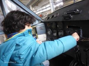 Nachwuchspilot im Luftfahrtmuseum in Wernigerode