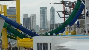 Water slides on the Norwegian Escape