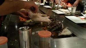 Teppanyaki Restaurant on board the NCL Escape