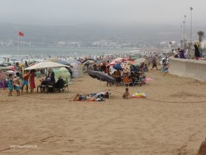 beach of Agadir in August