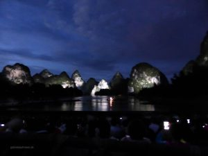 Light and sound show in Yangshuo