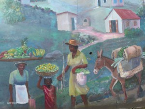 Painting on a wall in Tortola
