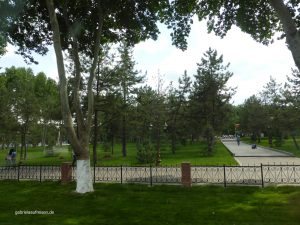 one of the beautiful parks in Tashkent