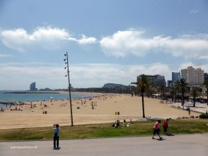 beach in Barcelona at the Olympic Area