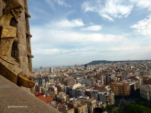 view over Barcelona from the Passionate tower