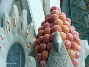 Art on the roof of the Sagrada Familia