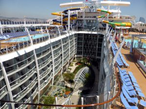view over the Central Park of the Harmony of the Seas