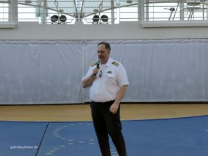 The Captain of the vessel Harmony of the Seas, Gus Andersson