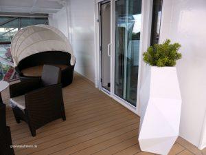 Terrasse der Diamant-Suite