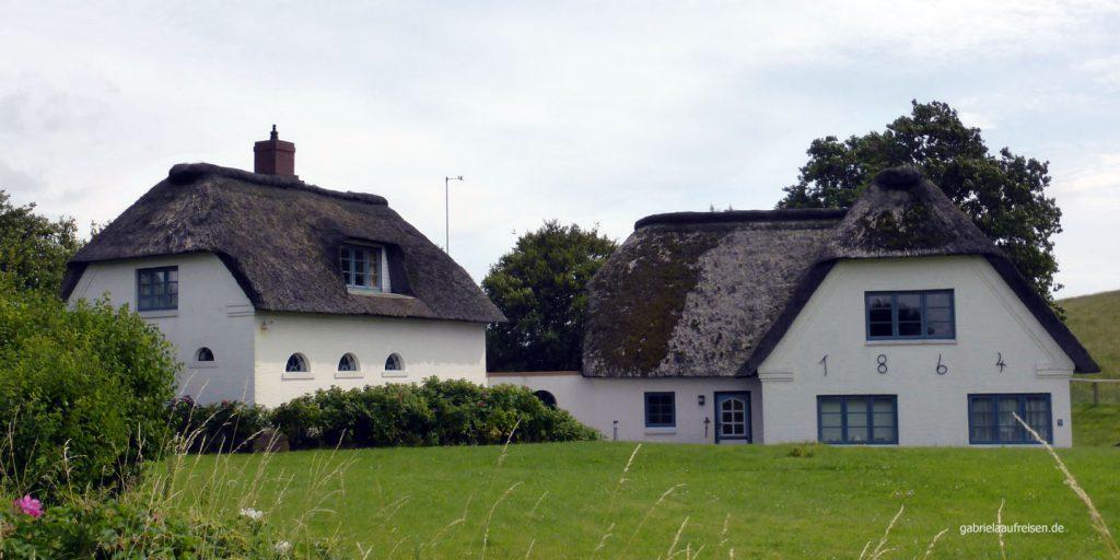 Reetdachhäuser auf Pellworm