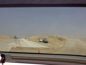 highway between Bukhara and Khiva (Chiva)