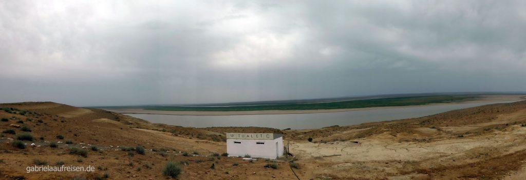 Blick auf den Amudaja Fluss