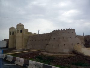 city walls of the old part of Khiva