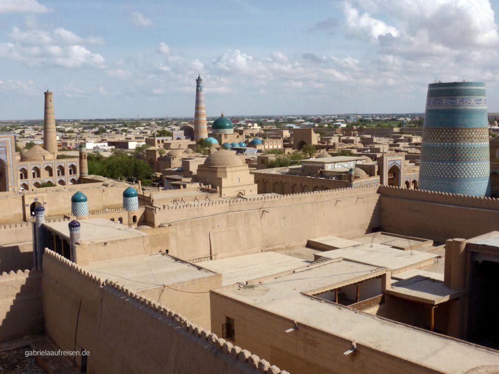 Blick über Chiwas Altstadt