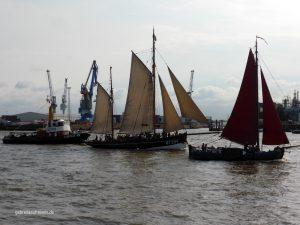 old boats in Hamburg