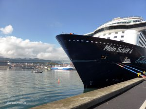 Mein Schiff 4 in the port of Bilbao