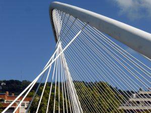 the bridge near the Guggenheim Museum