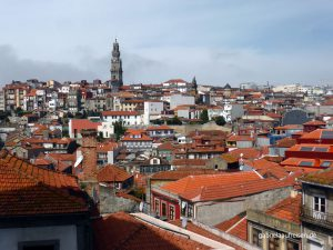 view over Porto at the cathedrale