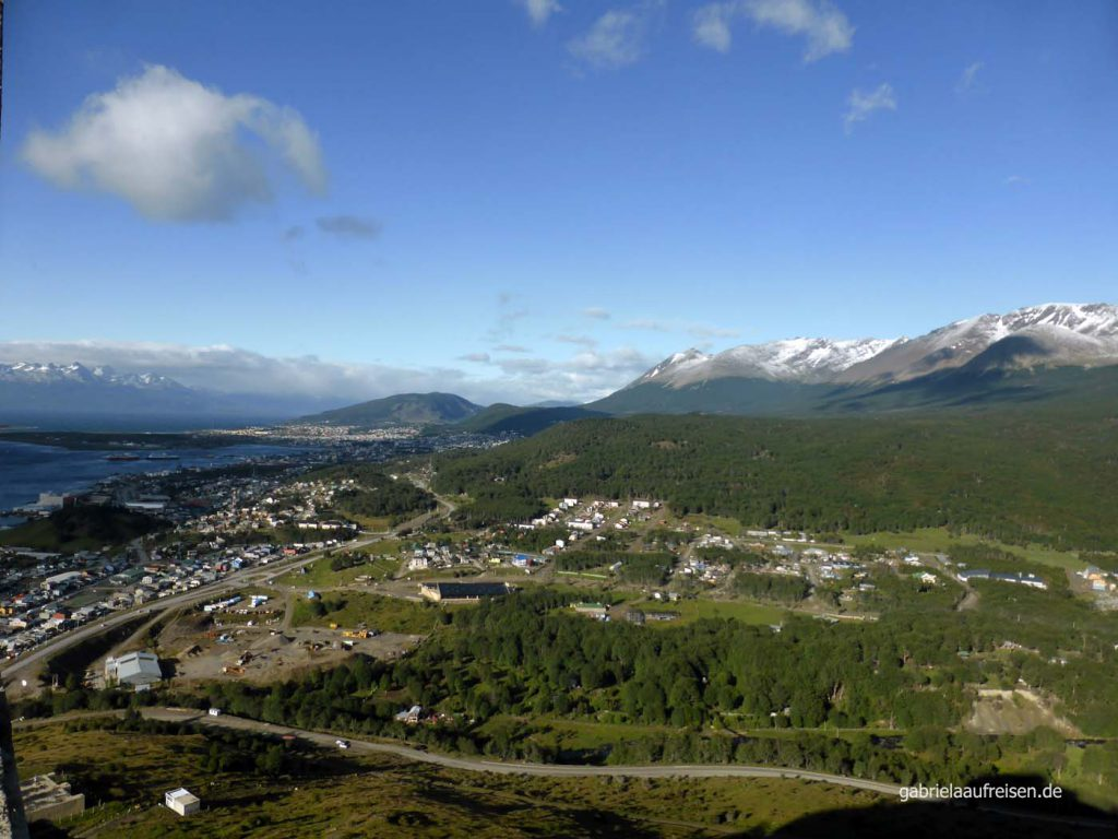 Blick vom Hotel Arakur auf Ushuaia