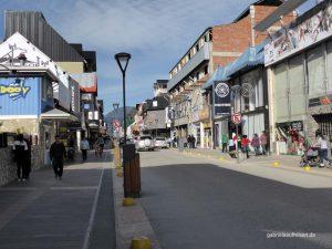 shopping street in Ushuaia