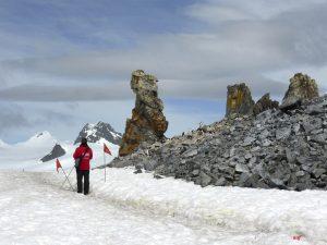 Antarctica, Halfmoon Bay, rocks