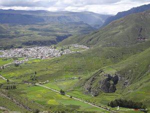 Blick über Chivay in Peru