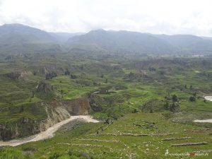Peru, Blick über Colca Canyon